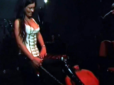 Miss Cheyenne tortures a slave