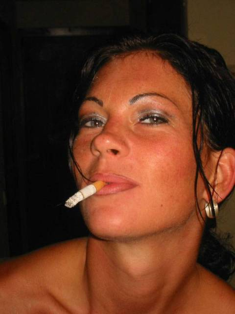 Miss Cheyenne smoking